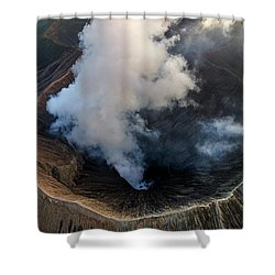 Volcanic Crater From Above Shower Curtain