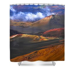 Shower Curtain featuring the photograph Volcanic Crater In Maui by Debbie Karnes