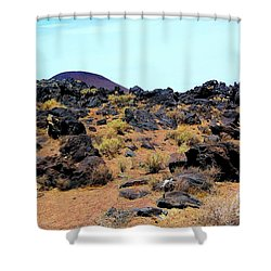 Volcanic Field Shower Curtain