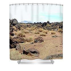 Volcanic Field Panorama Shower Curtain