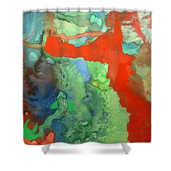 Volcanic Island Shower Curtain
