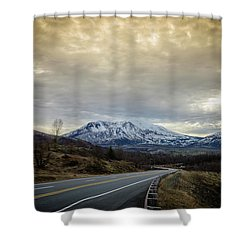 Volcanic Road Shower Curtain