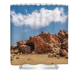 Volcanic Rocks Shower Curtain