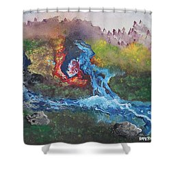 Volcano Delta Shower Curtain by Antonio Romero