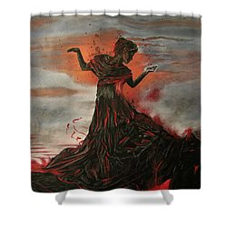 Volcano Keeper Shower Curtain by Melita Safran