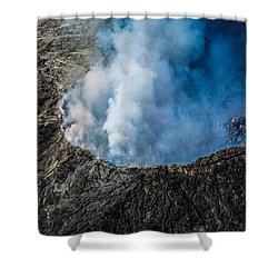 Shower Curtain featuring the photograph Volcano by M G Whittingham
