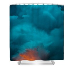 Volcano Smoke And Fire Shower Curtain