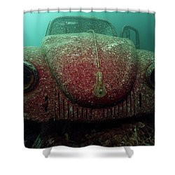 Shower Curtain featuring the photograph Volkswagen Beetle by Rico Besserdich