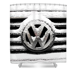 Volkswagen Symbol Under The Snow Shower Curtain