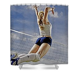 Volleyball Shower Curtain by Steve Williams