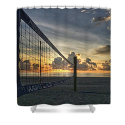 Volleyball Sunrise Shower Curtain