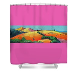Voluptuous Windy Hill Shower Curtain