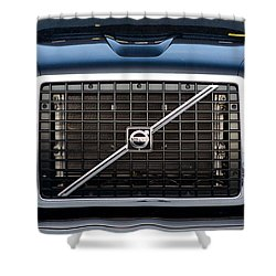 Volvo Blk And Silver Shower Curtain