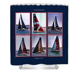 Volvo Ocean Race Newport 2015 Shower Curtain by Tom Prendergast