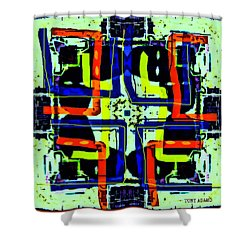 Voodoo Brother Fix Shower Curtain by Tony Adamo