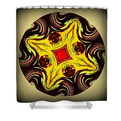 Voodoo Doll Mandala Shower Curtain