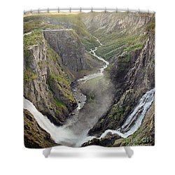 Voringsfossen Waterfall And Canyon Shower Curtain
