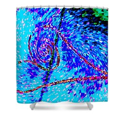 Vortex Heart Love Shower Curtain by Marlene Rose Besso