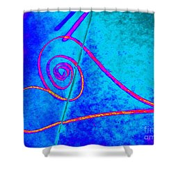 Vortex Heart Shower Curtain by Marlene Rose Besso