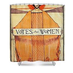 Votes For Women, 1911 Shower Curtain by Granger