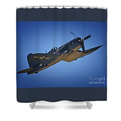 Vought F4u Corsair No. 29 To Angels Eleven Shower Curtain