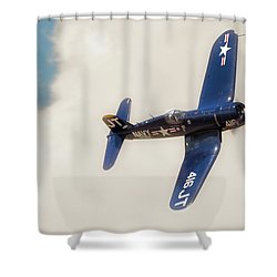 Vought F4u Corsair Shower Curtain