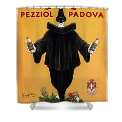 Vov Pezziol - Italian Liquer - Padova, Italy - Vintage Advertising Poster Shower Curtain