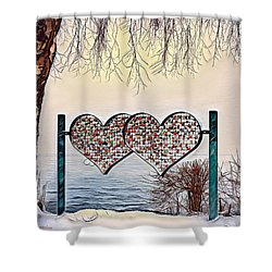 Shower Curtain featuring the digital art Vow Of Love by Pennie McCracken