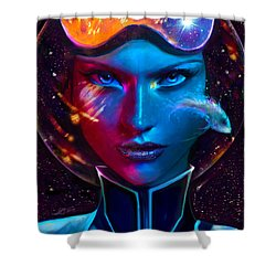 Voyager Beyond The Clouds Shower Curtain
