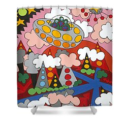 Voyager Shower Curtain by Rojax Art