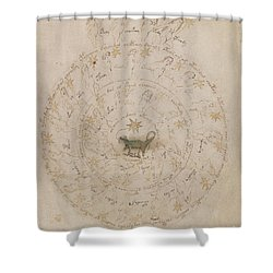 Voynich Manuscript Astro Scorpio Shower Curtain