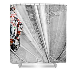 Vrooom Selective Color Shower Curtain