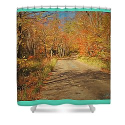 Vt.rte. Fifty Eight Hazen  Notch Shower Curtain