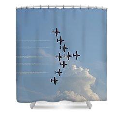 Vulcan Formation Shower Curtain