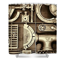 Vulcan Steel Steampunk Ironworks Shower Curtain