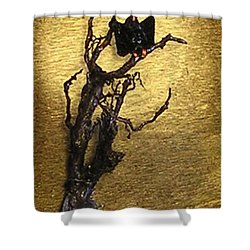 Vulture With Textured Sun Shower Curtain