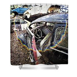 Vw And Friends Graveyard Shower Curtain