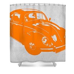 Vw Beetle Orange Shower Curtain
