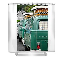 Vw Buses #carphotographer #vw #vwbus Shower Curtain