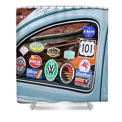 Shower Curtain featuring the photograph Vw Club by Chris Dutton
