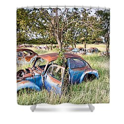 Vw Graveyard Shower Curtain