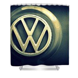 Vw Thing Emblem Shower Curtain by Joseph Skompski