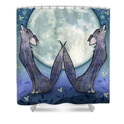 W Is For Wolves Shower Curtain