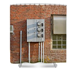 W Quoddy Head Power Station North Wall Shower Curtain