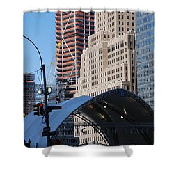 W T C Path Station Shower Curtain by Rob Hans