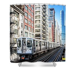 The Wabash L Train Shower Curtain