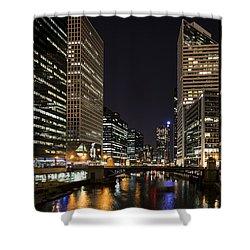 Wacker Avenue Shower Curtain by Andrea Silies