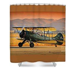 Waco Upf-7  Version 2 Shower Curtain