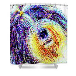 Wade Shower Curtain by Alene Sirott-Cope