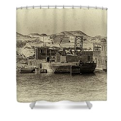 Wadi Al-sebua Antiqued Shower Curtain by Nigel Fletcher-Jones
